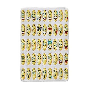 Amazon com: Wamika Emoji Smiley Faces Happy Sad Angry