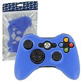 ZedLabz silicone cover for Microsoft Xbox 360 controller - protective skin rubber bumper case - royal blue