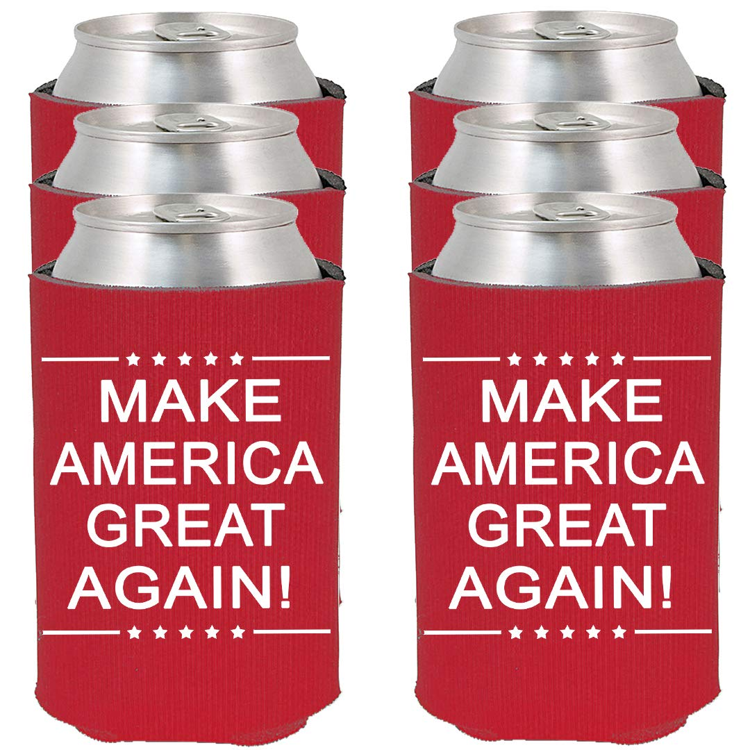 Shop4Ever Make America Great Again! ~ Red ~ Can Coolie Political Drink Coolers Coolies (Red, 6)