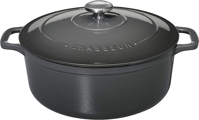Chasseur Cocotte Hunter Round Caviar, 1.8 L