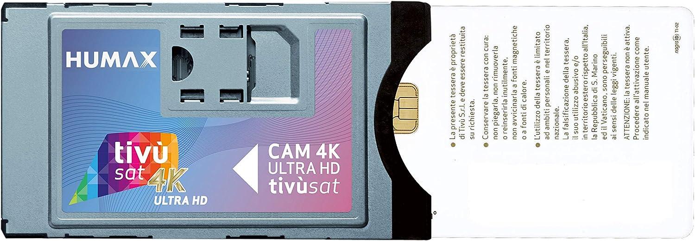 Humax - CAM Tivù Sat 4K Ultra HD con Interfaz Ci+ECP (Incluye Tarjeta incluida, Compatible con Dispositivos Ci): Amazon.es: Electrónica