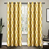 Exclusive Home Ironwork Sateen Woven Blackout Grommet Top Curtain Panel Pair, Sundress Yellow, 52x108, 2 Piece
