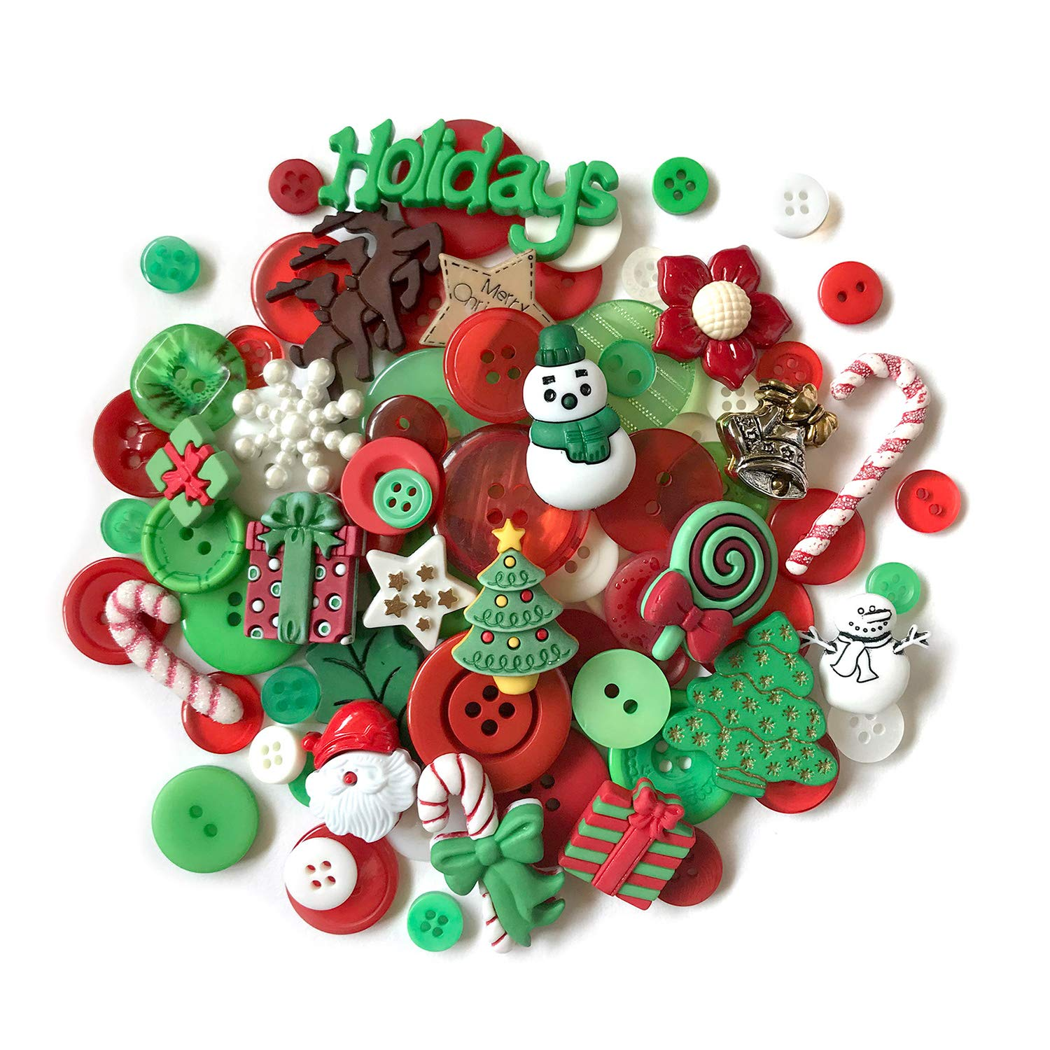 20279795a601 Amazon.com  Buttons Galore 50+ Buttons for Sewing   Crafts- Christmas
