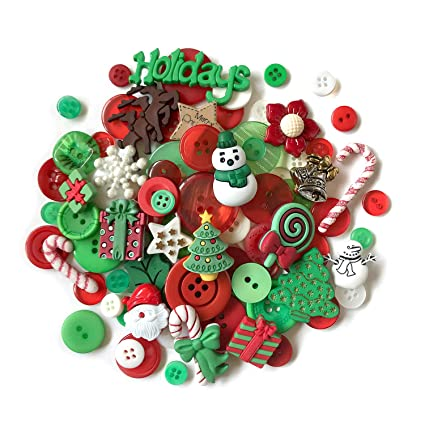 buttons galore 50 value pack christmas button - Christmas Buttons