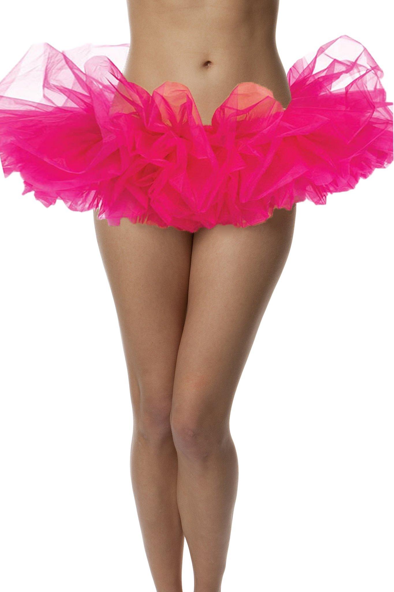 BellaSous Adult Tutu Skirt, Ballet Tutu Style, by Perfect Princess Tutu, Adult Dance Skirt, Rehearsal Tutu, Or Petticoat Skirt. Plus Size Tutu Available! (Hot Pink Tutu, Standard Size)