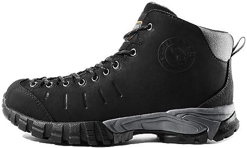 wspaniały wygląd Wielka wyprzedaż jak kupić CAMEL CROWN Women/Men Mid Hiking Boots Water Resistant Leather Hiking Shoes  for Outdoor Walking Trekking