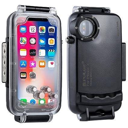 PULUZ Carcasa de Buceo para iPhone, Impermeable, 40 m, Impermeable, para iPhone X/8/7/8Plus/7Plus, Color Blanco, tamaño iPhone