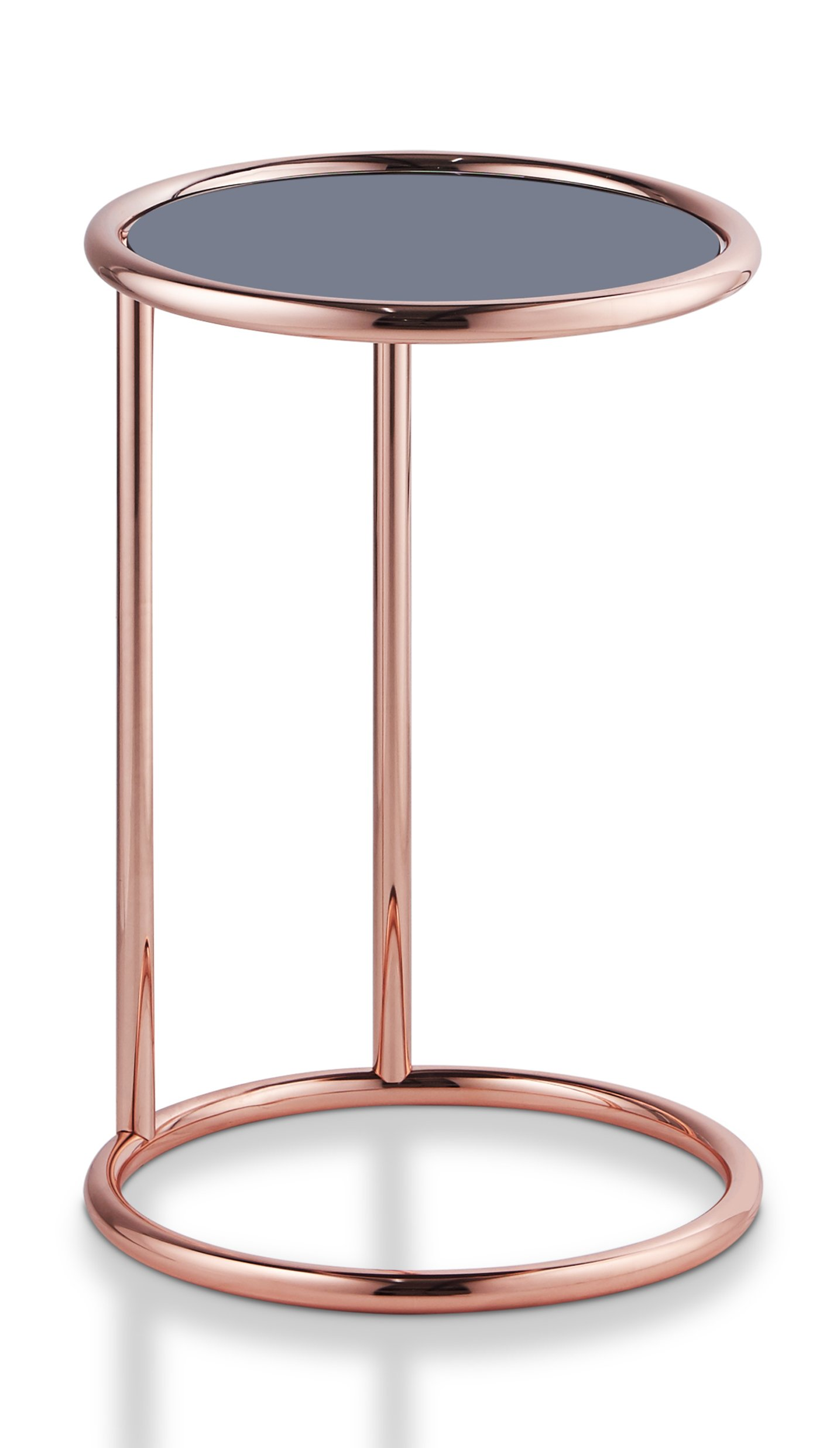 Furniture of America Besina Round End Table Contemporary Style - Rose Gold