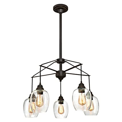 huge selection of aa776 fbef5 Westinghouse Lighting 6333100 Eldon Five-Light Indoor Chandelier, Oil  Rubbed Bronze Finish with Highlights and Clear Seeded Glass