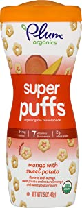 Plum Organics Super Puffs Mango with Sweet Potato, 1.5 Oz (Pack Of 4)