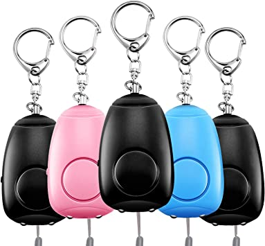 130dB Safety Sound Personal Alarm Self-defense Keychain Emergency With LED Light