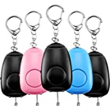 Safe Sound Personal Alarm, 5 Pack 130DB Siren Song Personal Security Alarm Keychain with LED Lights, Emergency Safety…