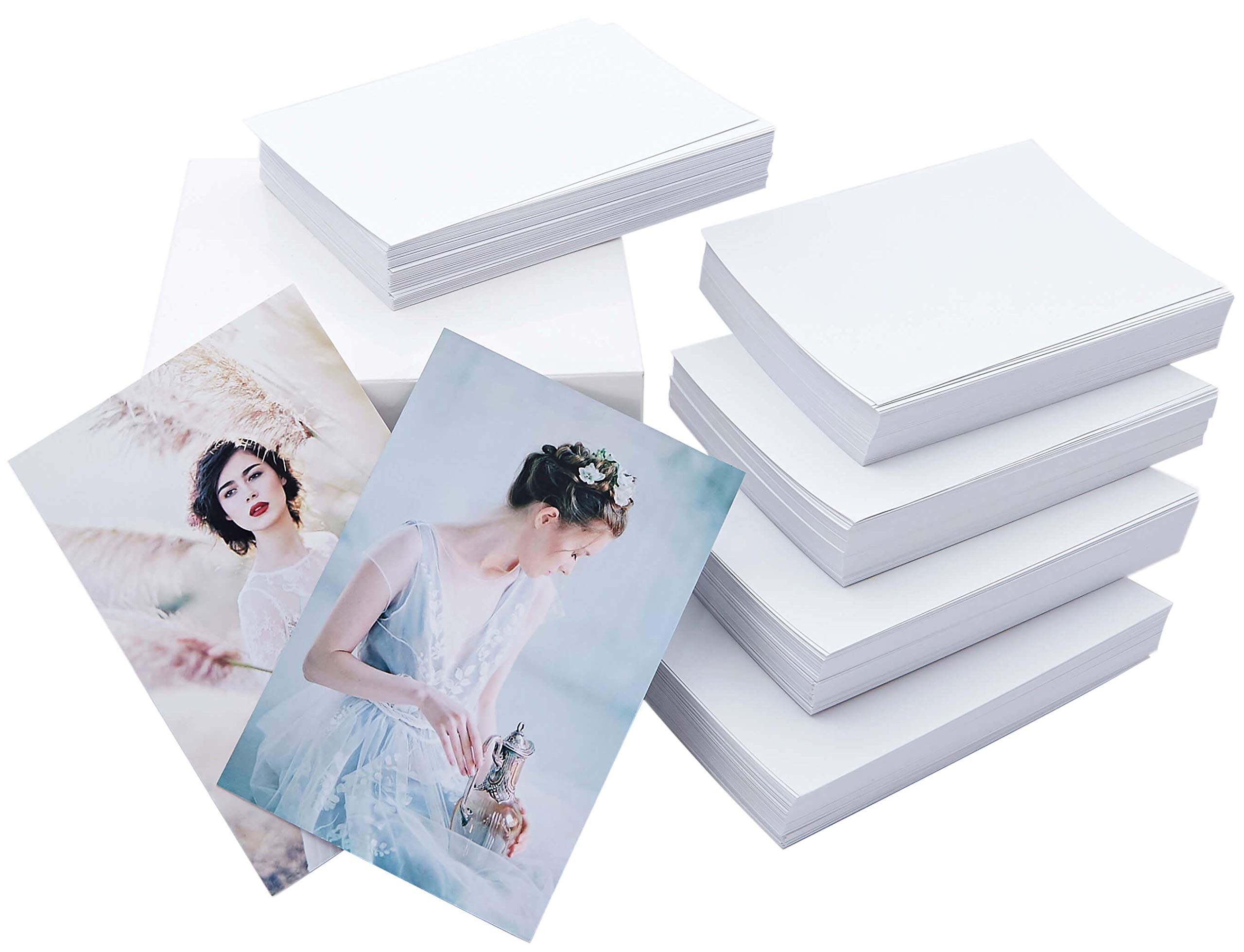 Matte Photo Paper 4x6, 500 Sheets (Economy Pack), Double Sided, For All Inkjet & Supertank Printers, 9.5 mil, 220gsm