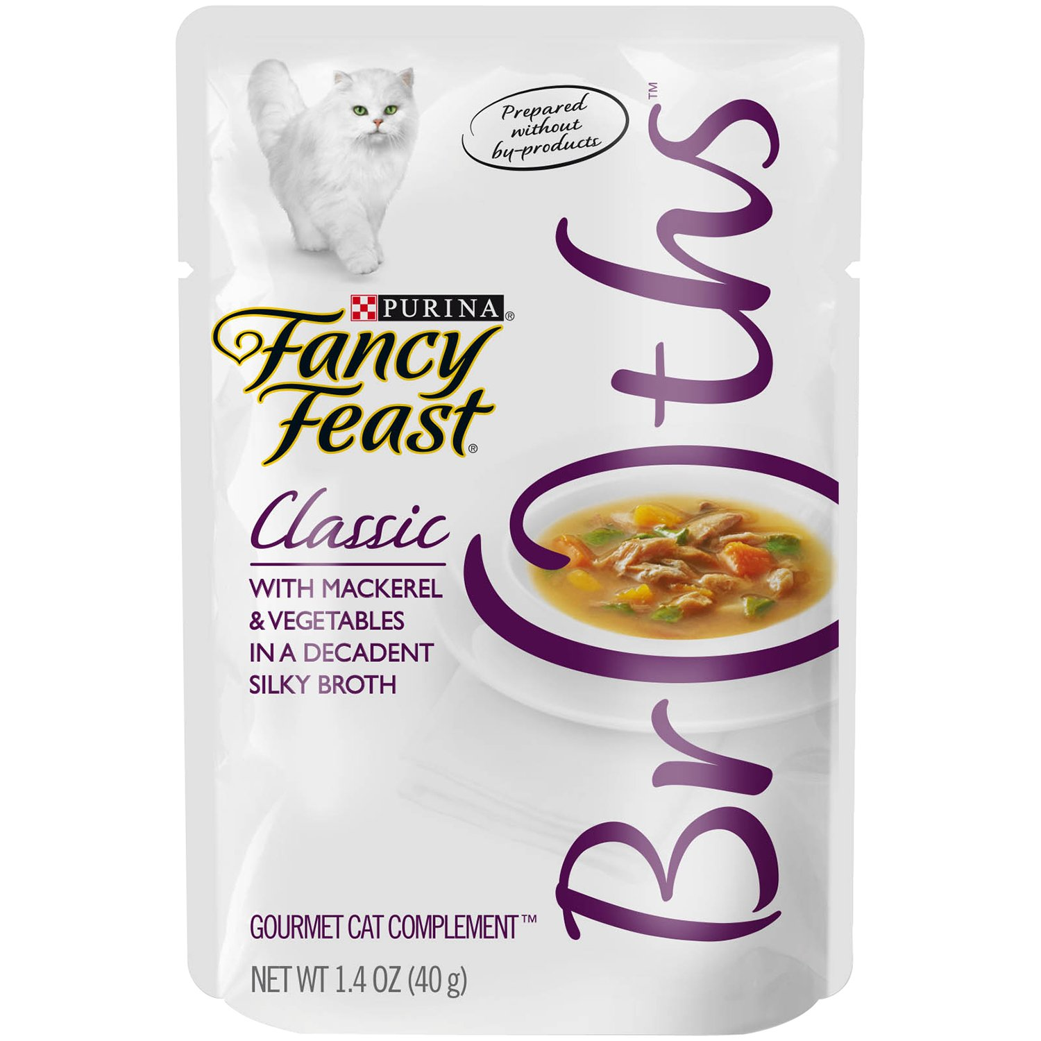 Purina Fancy Feast Classic With Mackerel & Vegetables Cat Food - (32) 1.4 Oz. Pouch by Purina Fancy Feast