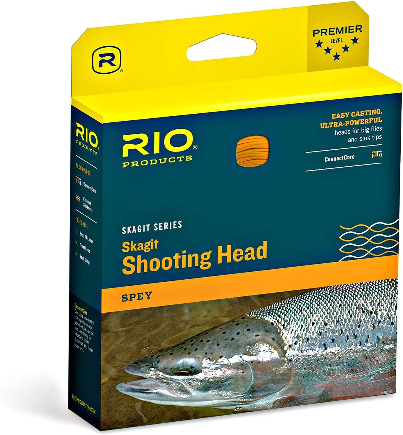 RIO Products Fly Line Skagit Max Long 625gr Teal//Orange