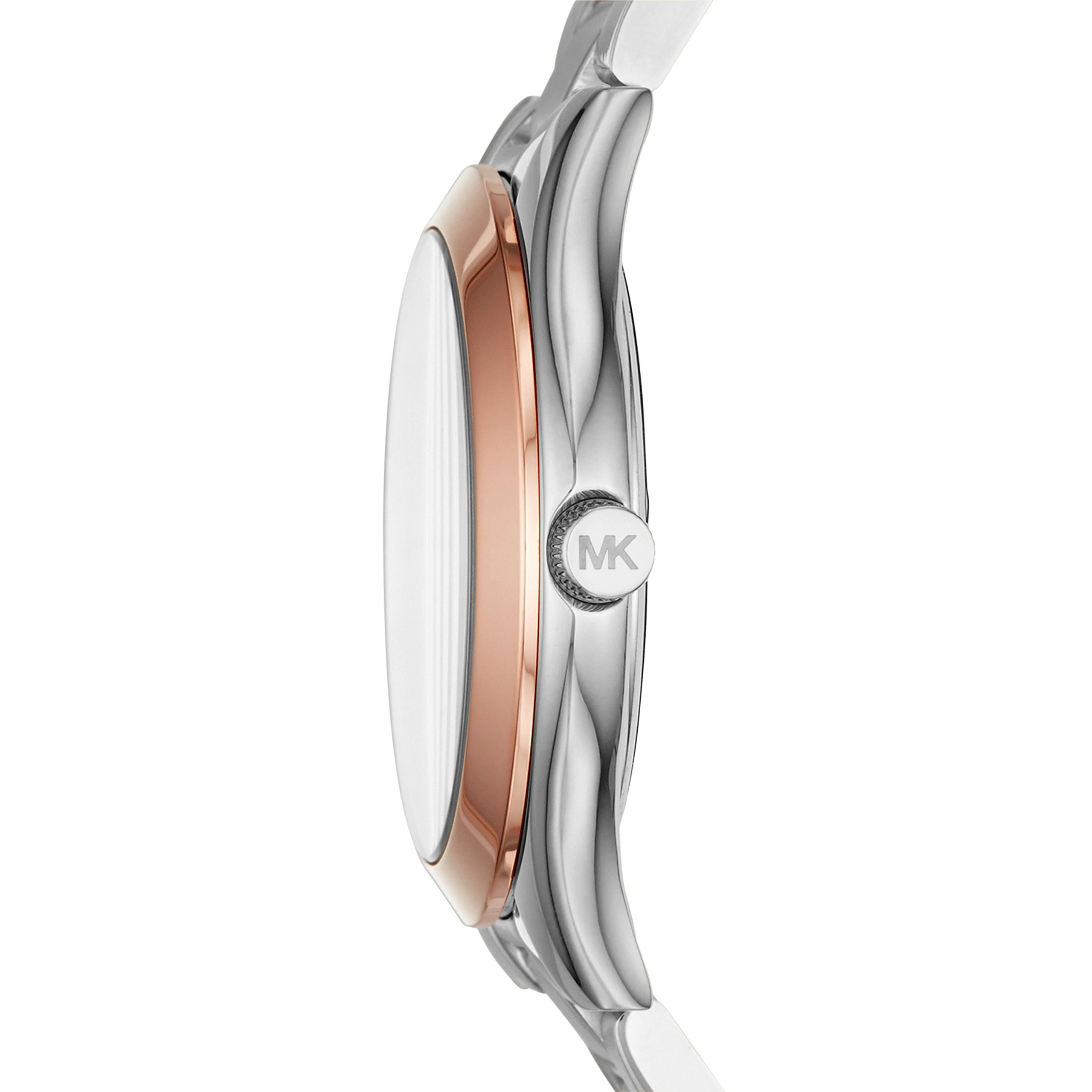 michael kors womens mini slim runway silvertone watch