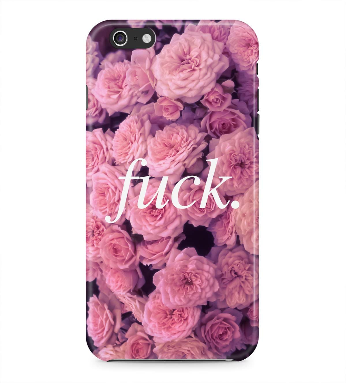 Fuck Quote Pink Roses Floral Tumblr Retro Rad Indie Boho Hard