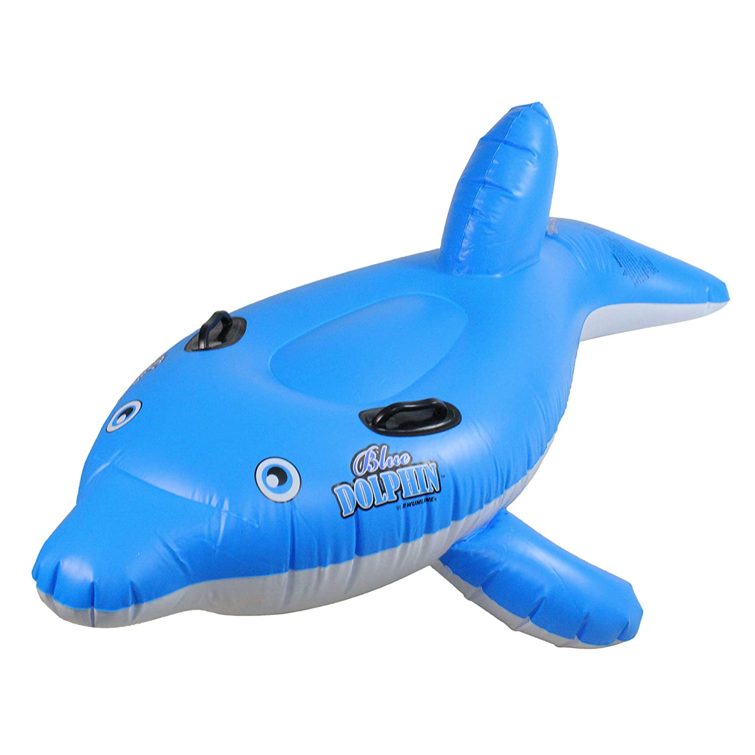 61  Water Sports Inflatable RideOn bluee Dolphin Swimming Pool Float