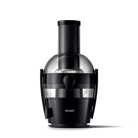 Philips Viva Collection HR1855/06 - Exprimidor (Licuadora centrífuga, Negro, 1,