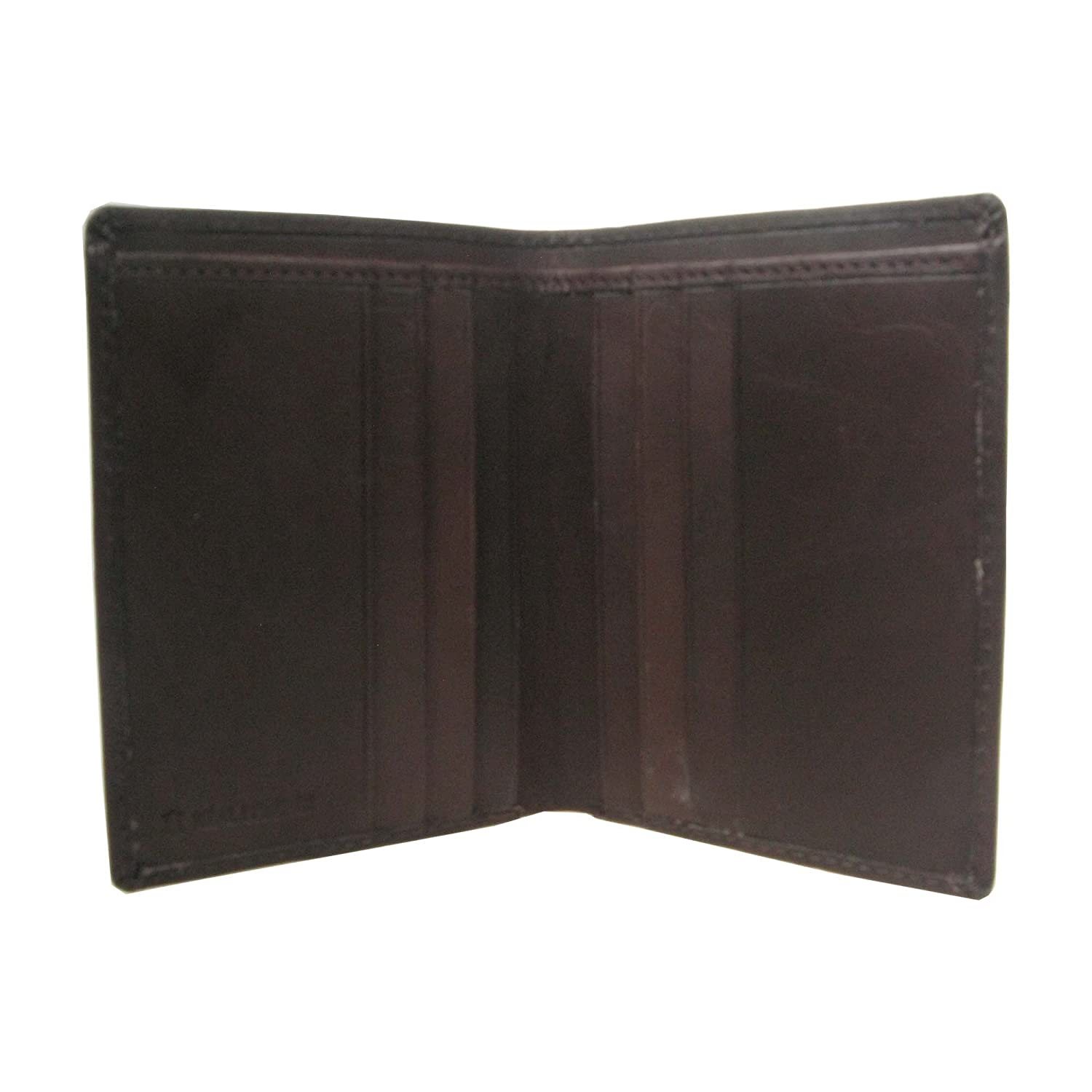Mens High Quality 8 Credit Card holder and Cash Pocket Real Leather Wallet 824 (Brown)