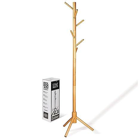 Zober - Perchero de madera de pino lacado de alta calidad ...