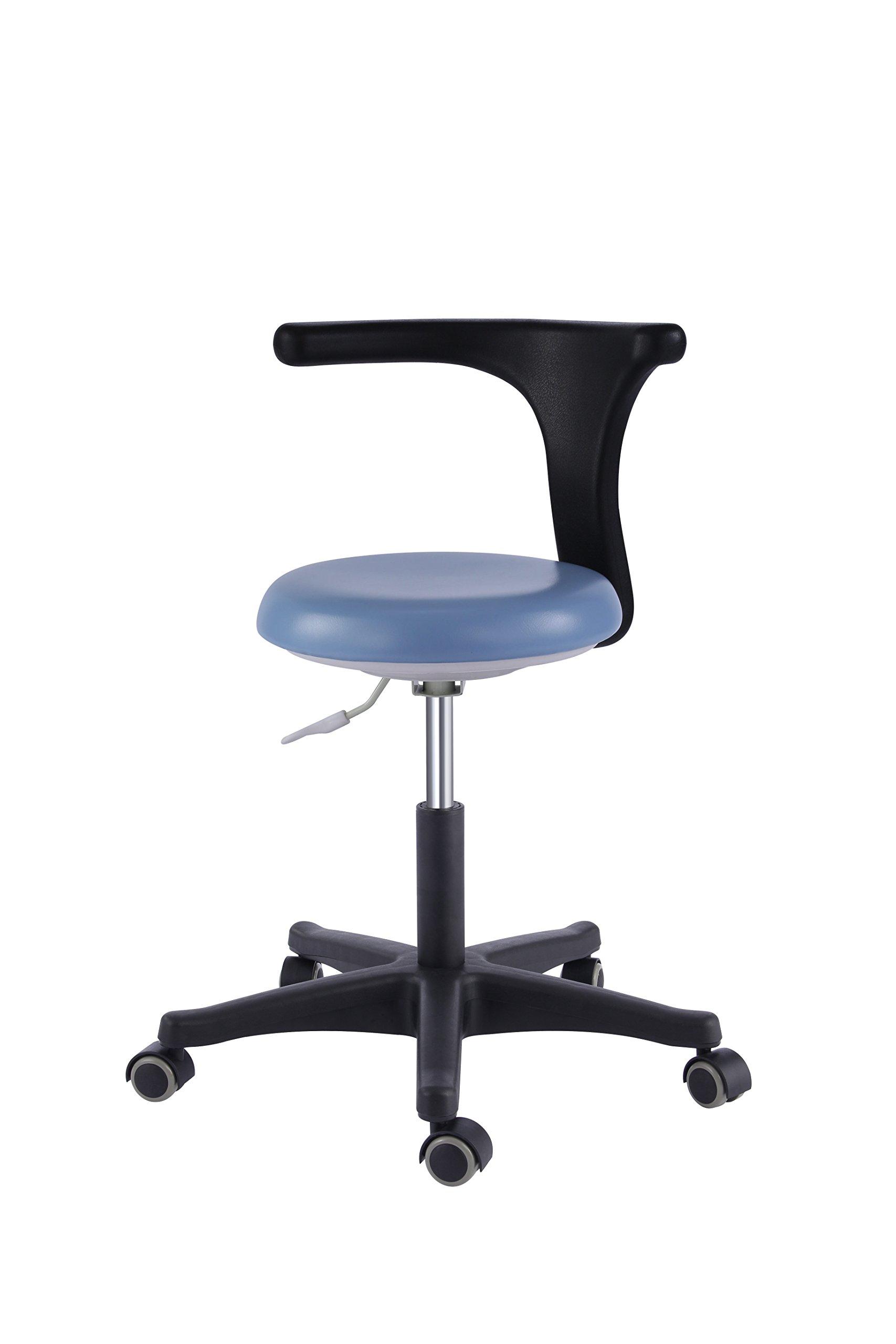Zeta Dental Office Stools Assistant's Stools Medical Adjustable Mobile Chair PU Black (14#) by Zeta
