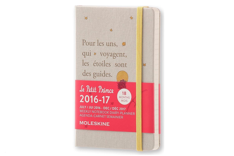 Moleskine DPP18WN2Y17 - Agenda semanal 18 meses, diseño El Principito, edición limitada, pocket 9 x 14
