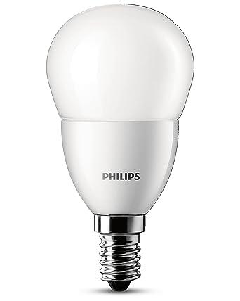 Philips 6W E14 Bombilla LED esférica Mate, 6 W, Blanco