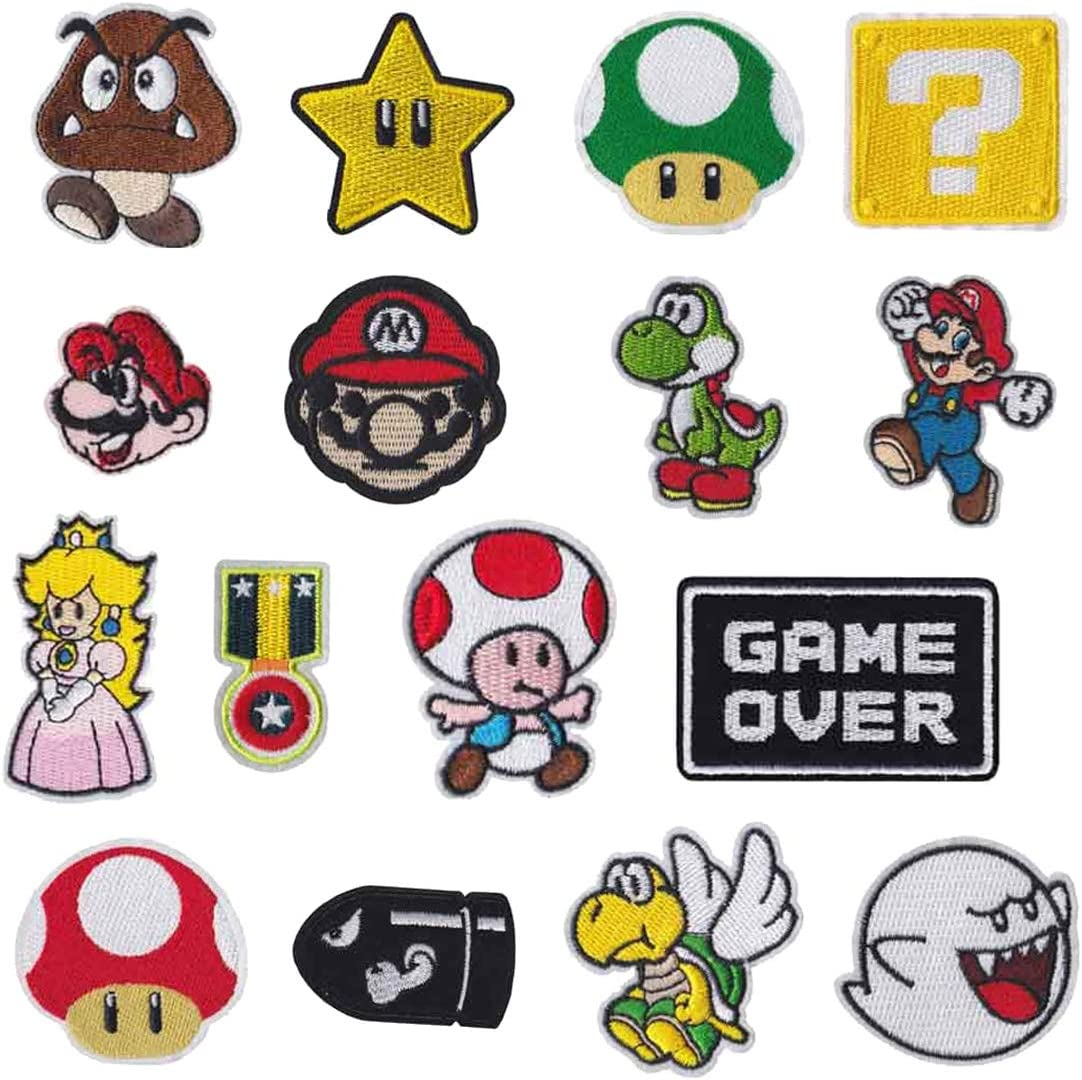 GAME OVER iron on Patch Mario Brothers patches video gamer
