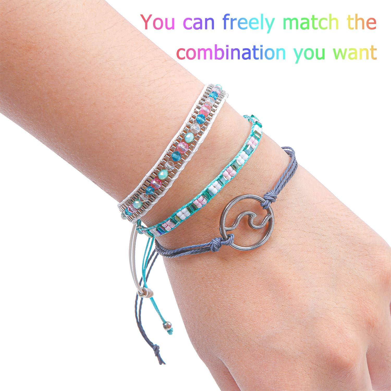 Purple//white//gunmetal African Zulu beaded flat bracelet small