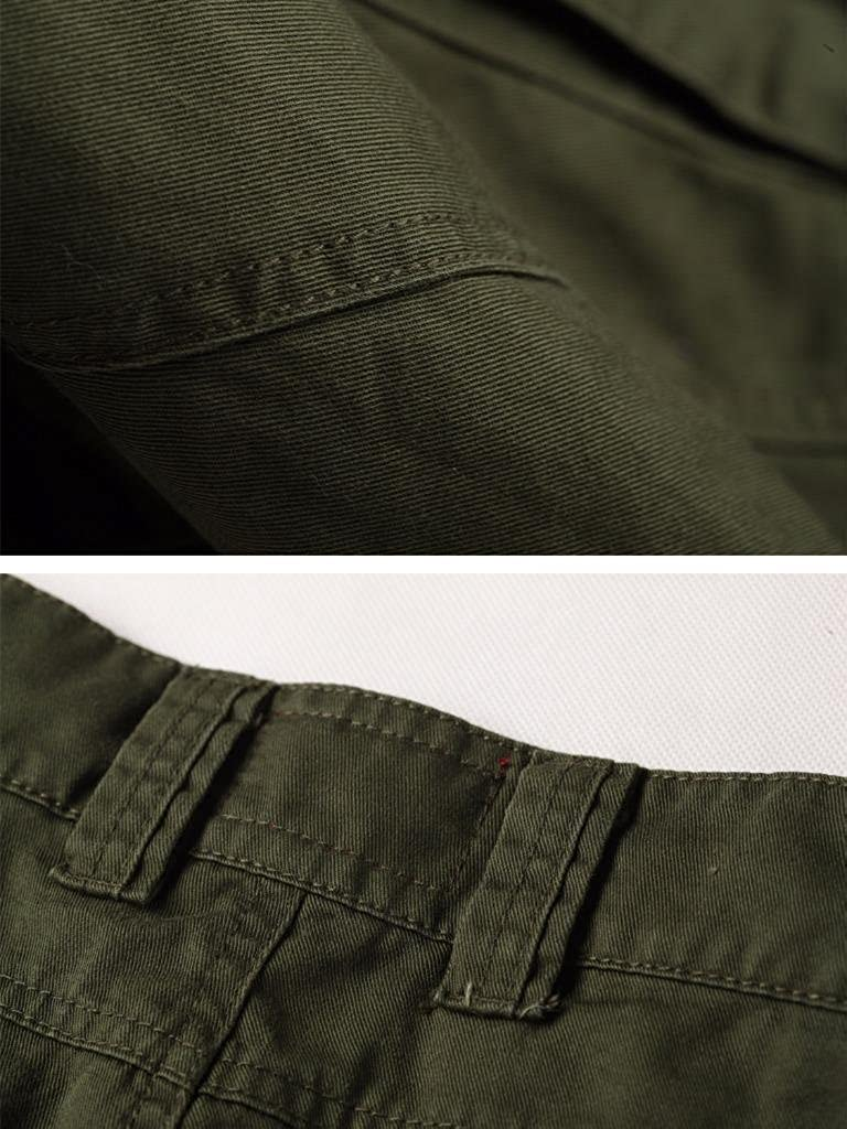 MUST WAY Mens Cargo Regular Trouser Army Combat Work Trouser Workwear Pants with 8 Pocket