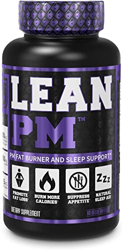 LEAN PM Night Time Fat Burner, Sleep Aid Supplement, Appetite Suppressant for Men and Women – 60 Stimulant-Free Veggie Weight Loss Diet Pills