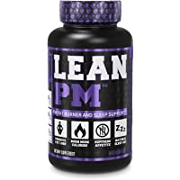 Lean PM Night Time Fat Burner, Sleep Aid Supplement, & Appetite Suppressant for Men and Women - 60 Stimulant-Free Veggie…