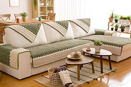 Designs Deluxe Reversible Quilted Furniture Protector .Large Sofa Cover  Professional Couch Slipcover Living Room Protector(Green,36\