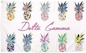 Delta Gamma Pop Art Pineapple Sorority Flag Greek Letter Banner 3 feet x 5 feet Sign Decor DG (Flag - Pineapple)