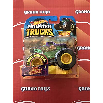 h.w. Monster Truck Test Subject Includes Connect and Crash CAR 25/50: Toys & Games