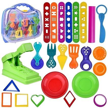 Amazon Com Fun Little Toys Kids Clay Dough Toddler Tool Playset