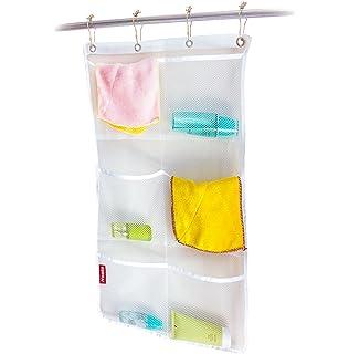 Honla 2 Pack Hanging Mesh Bath Shower Caddy Organizer With 6 Clear Storage PocketsLarge Grommets