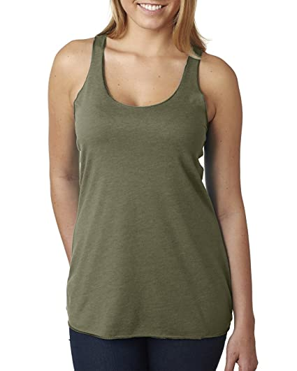 73607c179a93 Next Level Women's Stylish Soft Tri Blend Racerback Tank Top at Amazon  Women's Clothing store: