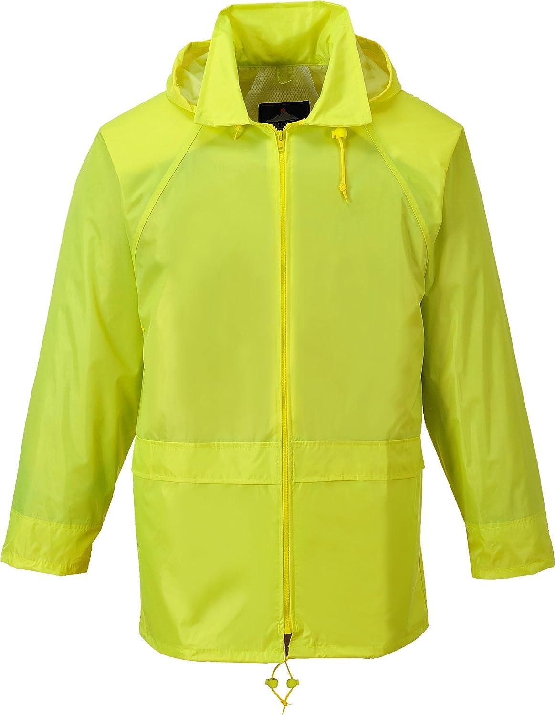 Portwest Workwear Mens Rain Jacket Yellow XL