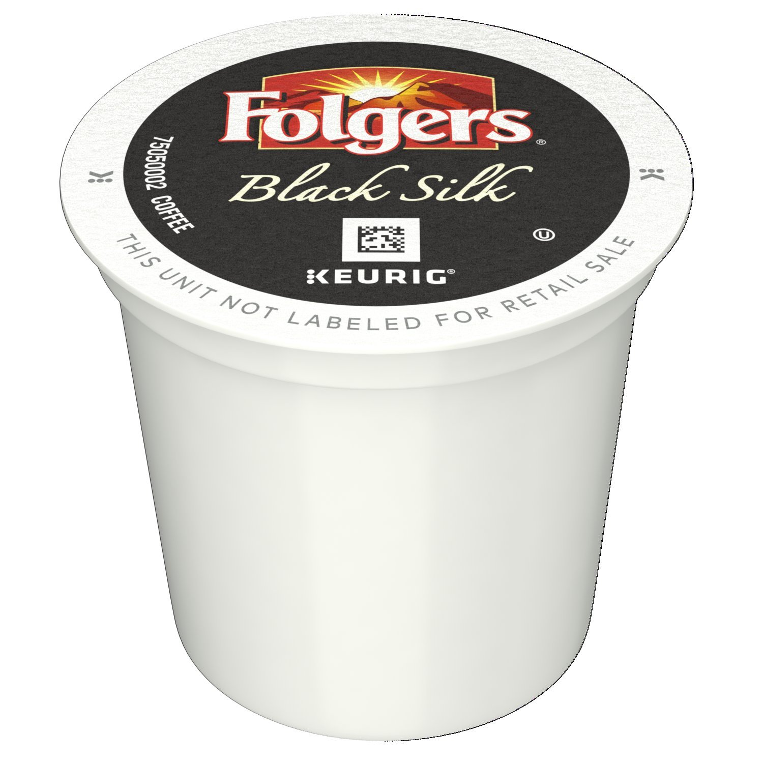 Folgers Black Silk Coffee, Dark Roast, K-Cup Pods for Keurig K-Cup Brewers, 12-Count (Pack of 6) by Folgers (Image #1)
