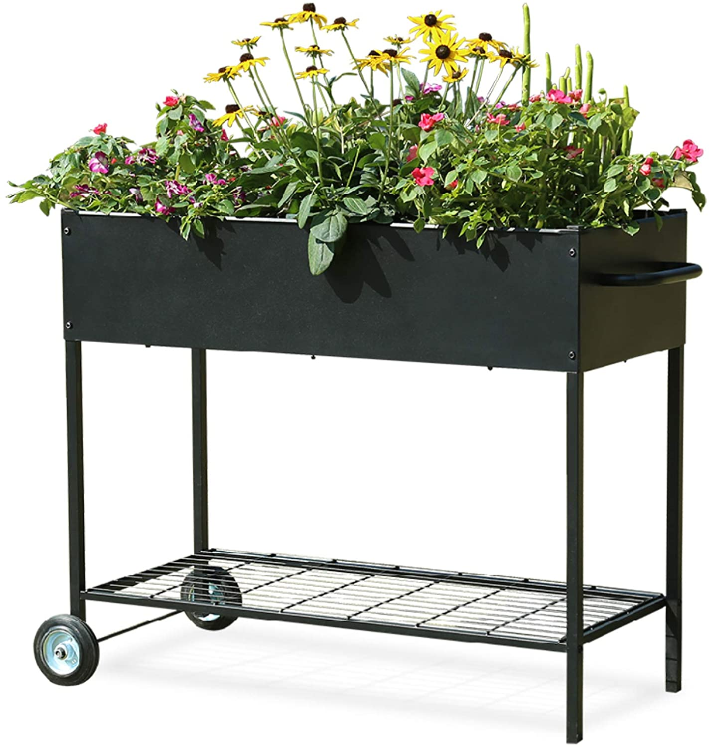 MIXC Raised Garden Boxes, Metal Elevated Outdoor Planter Box for Backyard & Patio,Large Planter for Vegetable Flower Herb,Standard Size