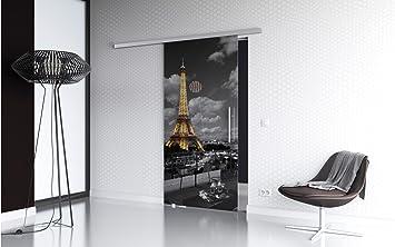 baumarkt direkt – Puerta corredera de cristal Paris Premium, con tirador de barra en 3 Anchos 90 cm: Amazon.es: Bricolaje y herramientas