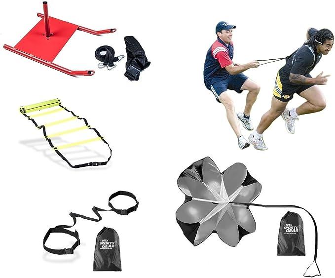 Crossfit Kit de formación escalera, trineo, paracaídas, evasión cinturón cartucho de resistencia: Amazon.es: Deportes y aire libre
