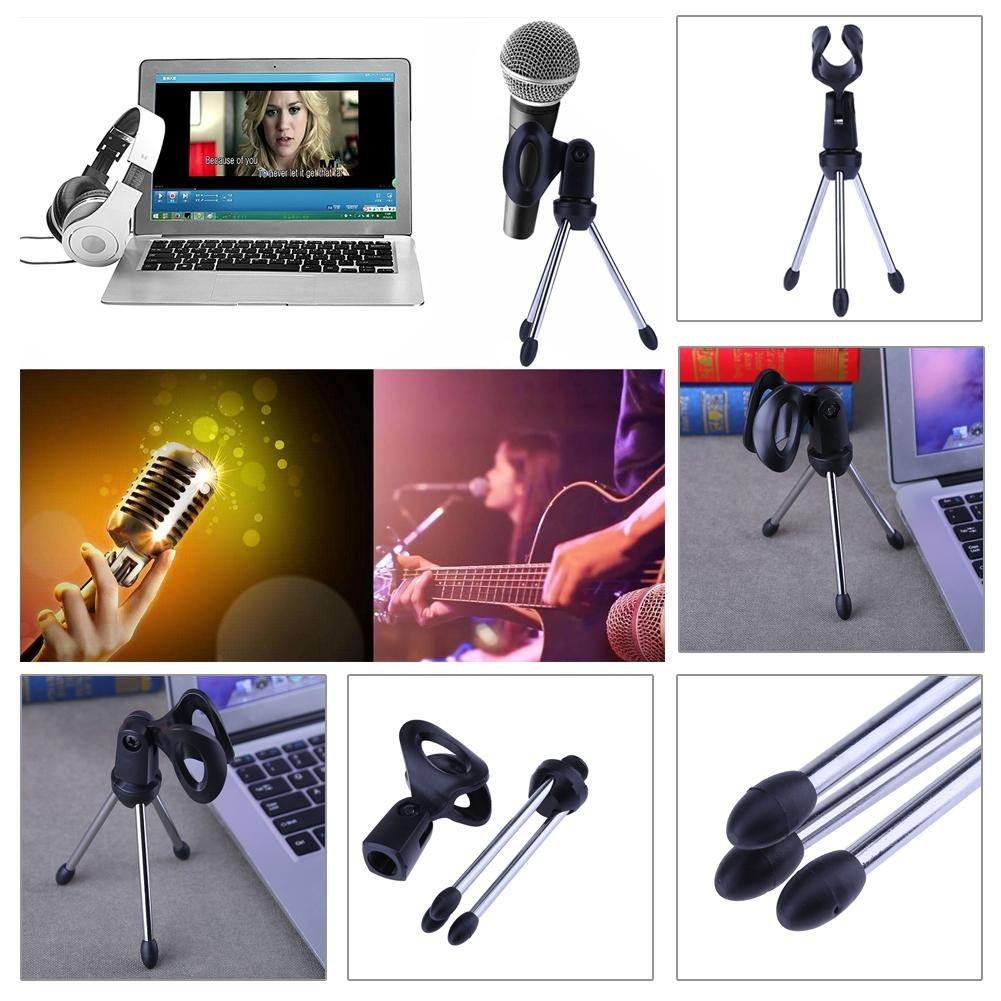 Broadroot tr/ípode soporte de micr/ófono Mini plegable sobremesa mont/ículo soporte soporte para micr/ófono