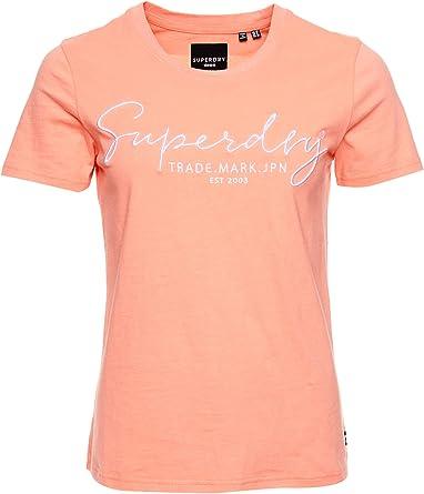 Superdry Alice Script Emb Entry tee Camiseta para Mujer: Amazon.es: Ropa y accesorios