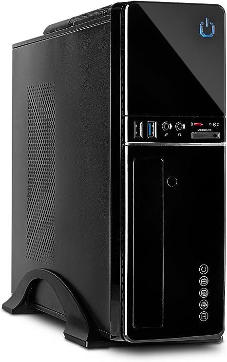 Inter-Tech IT-607 Escritorio Negro - Caja de Ordenador (Escritorio ...