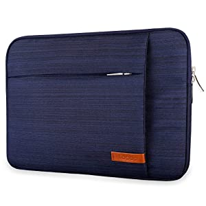 Lacdo 15.6 Inch Laptop Sleeve Bag Compatible Acer Aspire/Predator, Toshiba, Dell Inspiron, ASUS P-Series, HP Pavilion, Lenovo, MSI GL62M, Chromebook Notebook Carrying Case, Water Resistant, Blue