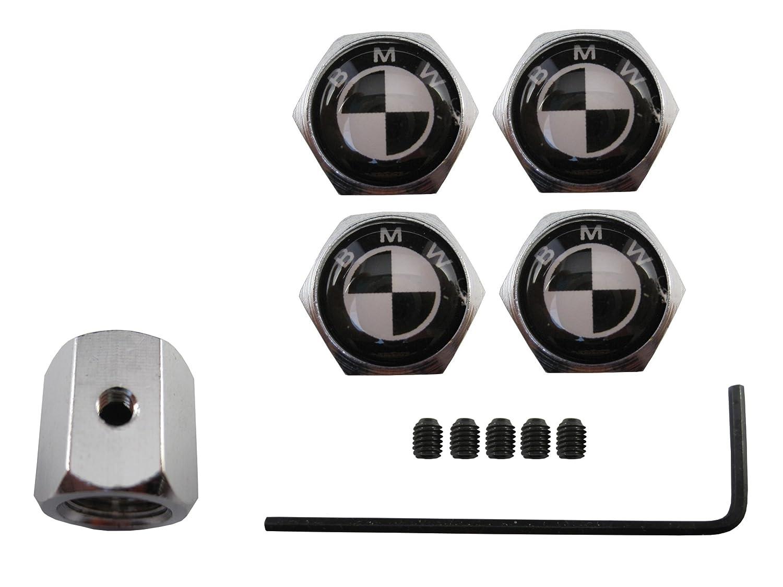 ETMA Valvulas Acero Inoxidable antirobo Compatible con BMW Negro aut013-21
