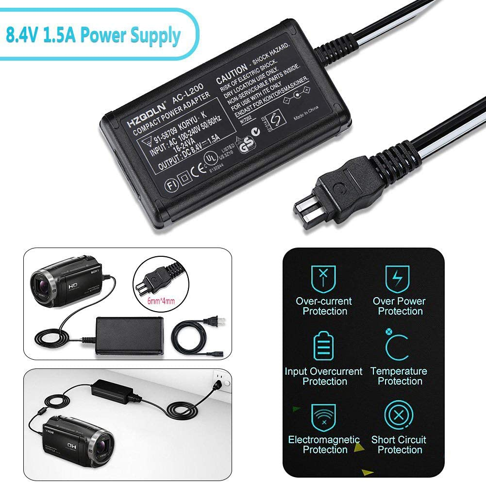 HZQDLN AC Power Adapter Charger and US Cable for Sony Handycam HDR-HC7 Digital Camcorder